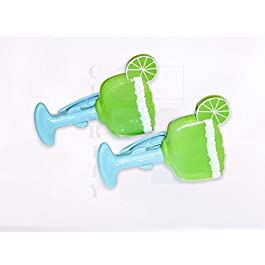 Beach towel 'Boca' Clips – 1 PAIR of MARGARITA GLASSES