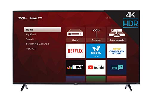 TCL 55S425-CA 4K Ultra HD Smart LED Television (2019), 55""