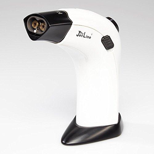 Lighter Table Piezo (Jetline G-4000 Dual Table Torch Lighter - White)