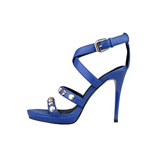 Versace Jeans Sandalias E0VLBS01 76468 202 Azul - Mujer