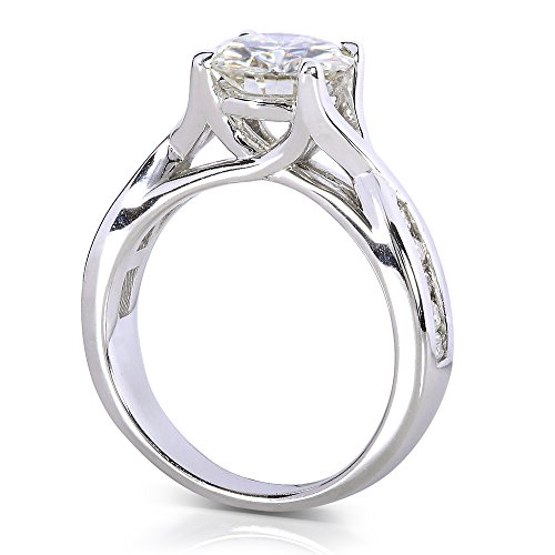 Forever brillant et diamant de bague de fiançailles en Or 911/5carats (ctw) en or blanc 14K _ 4,5