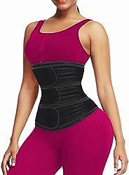 QEESMEI Waist Trainer Belt for Women & Man - Waist Cincher Trimmer Weight Loss Ab Belt - Slimming Body Sha
