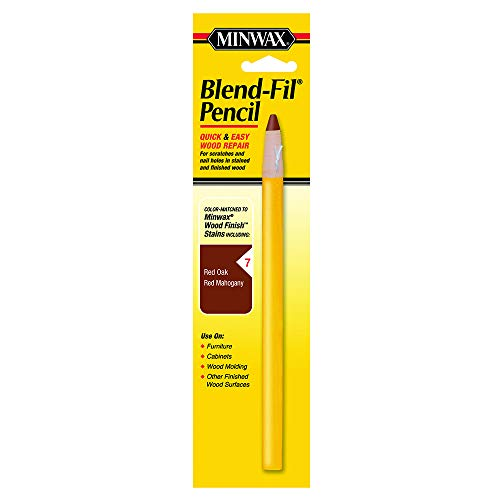 - Minwax 110076666 N0 7 Blend-Fil Wood Repair Stain Pencil, Mahogany