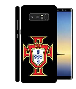 ColorKing Football Portugal 09 Black shell case cover for Samsung Note 8
