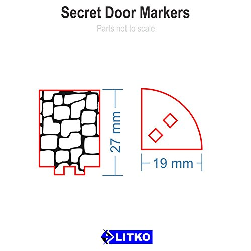 sc 1 st  Amazon.com & Amazon.com: RPG Secret Door Markers (5): Toys u0026 Games pezcame.com