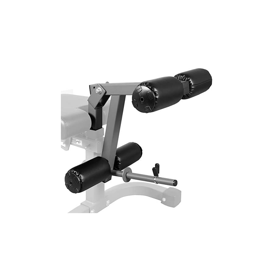 XMark Universal 11 Gauge Adjustable Leg Curl / Extension Attachment XM 7455 (Gray or White)