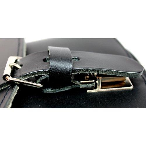 DELARA Borsa da caccia in cuoio nero di alta qualità - Made in Germany
