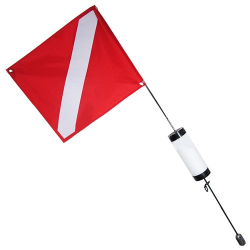 Scuba Choice Scuba Diving Spearfishing Free Dive Flag with Weight Float, 4', Large