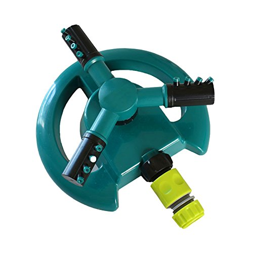 Irrigation Garden Sprinklers Automatic Watering Grass Lawn 360 Degree Circle Rotating Water Sprinkler 3 Nozzles 1Pcs Light Green