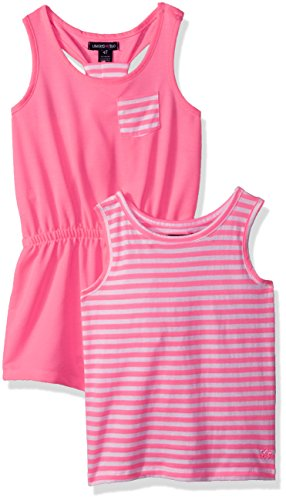 Limited Too Little Girls' Romper, KY20 Neon Pink, 6X