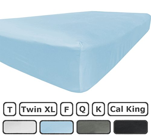 Full Size Fitted Sheet Only - 300 Thread Count 100% Egyptian Cotton - Flat Sheets Sold Separately for