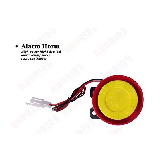 Andride Motorcycle / Bike Alarm Security System Button Remote Key Anti-Theft Alarm Universal