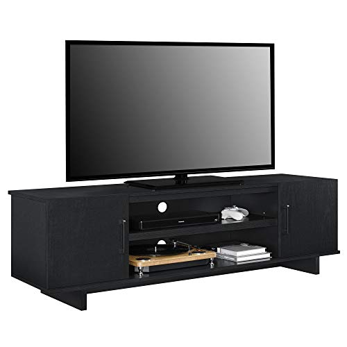 Ameriwood Home Southlander TV Stand, Black Oak (Black Tv Stand)