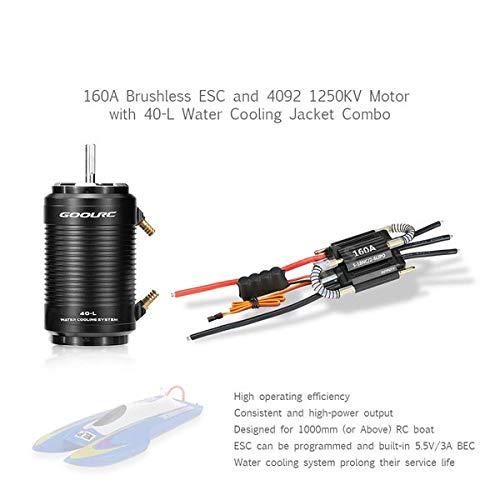 JVSISM ESC Senza spazzole 70A e Motore 2958 4200KV con Rivestimento per Raffreddamento ad Acqua 29-S Combo per 600-800mm RC Boat