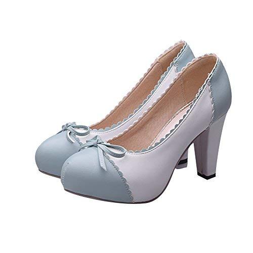 Charm Foot Women's Spirng High Heel Pumps Dress Shoes (10, Blue) ()