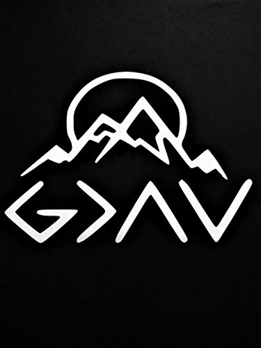 - Chase Grace Studio God is Greater That Highs and Lows Christian Mountains Vinyl Decal Sticker|White|Cars Trucks SUVs Vans Laptops Walls Glass Metal|6.5