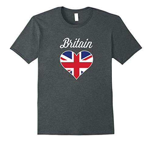 Great Britain Costume For Kids (Mens Funny Love Great Britain With United Kingdom Flag Tshirt XL Dark Heather)