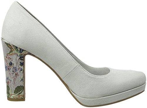Tamaris Grey Comb Closed toe Pumps 22431 cloud Women''s fwx7FqrnUf