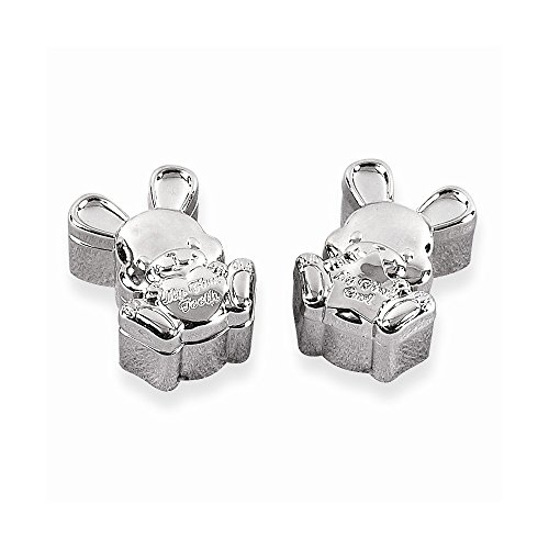 Jewelry Best Seller Nickel-plated 1st Tooth/1st Curl Bunny Boxes by Jewelry Brothers Gifts