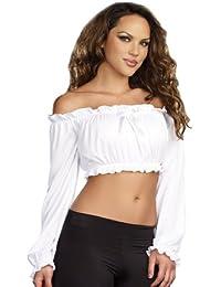 Women's Ruffled Crop Top Costume Accessory