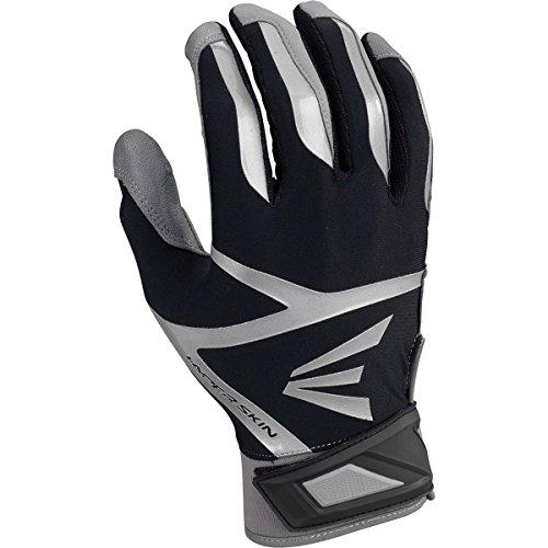 Easton Z7 VRS Hyperskin Youth Batting Gloves, Gray/Black, Large