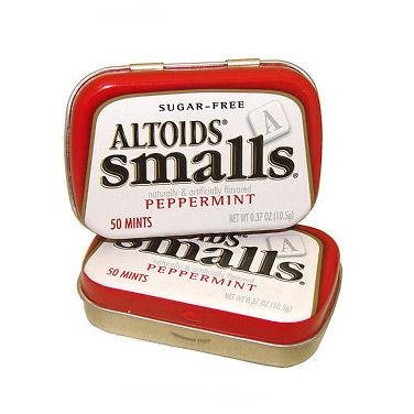 Altoids Sugar Free Small Mints - Peppermint, 50 mints, pocket size tin, 9 count