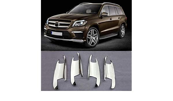 FidgetGear - Embellecedor para Manilla de Puerta de Mercedes-Benz X166 GL450 350 550 (ABS), Cromado: Amazon.es: Coche y moto