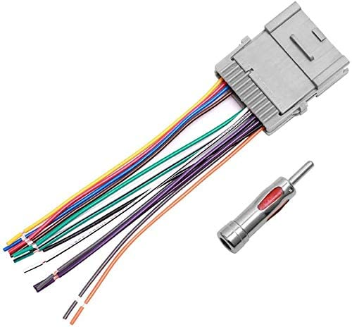amazon.com: car stereo radio wiring harness antenna adapter for buick chevy  gmc pontiac: car electronics  amazon.com