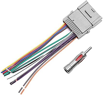 [SCHEMATICS_4FD]  Amazon.com: Car Stereo Radio Wiring Harness Antenna Adapter for Buick Chevy  GMC Pontiac: Car Electronics | Stereo Wiring Harness |  | Amazon.com