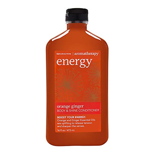 Bath and Body Works Aromatherapy Energy Orange Ginger Hair Conditioner Body Plus Shine 16 Ounce - Hair Ginger Conditioner