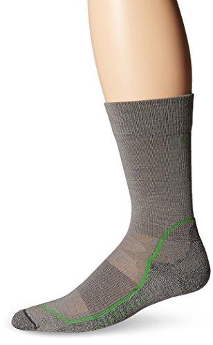 Icebreaker Men's Hike+ Light Crew Socks, Fossil/Turf/Monsoon, Large