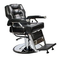 Black All Purpose Hydraulic Economy Recline Barber Chair