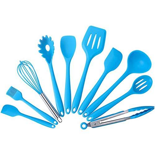 Kitchenware Colander - Quanna Non-Stick Shovel Colander Spoon Egg Beater Kitchenware 10Pcs Set Kitchen Tools