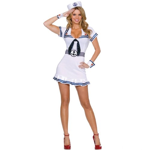 Cruise Cutie Costume - Cruise Cutie Adult Costume - Large