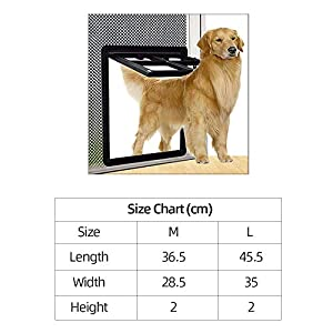 Decdeal Puerta Gatera para Mascotas Gatera para Puerta Mosquitera Giratoria Puerta de Pantalla para Mascotas Puerta Magnética Automática para Perros