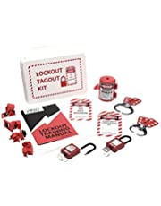 Lockout Safety Supply 7136 Electrical Lockout Tagout Kit, White