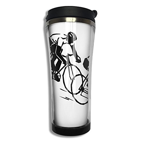BICYCLE RACER Stainless Steel Vacuum Coffee Cup Mug Coffee Thermos -