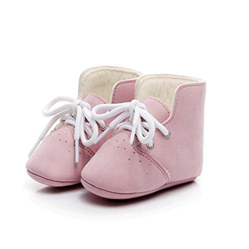 Ouneed® Krabbel schuhe , Herbst Winter Kinderschuhe Mädchen Jungen Hohe Sneakers Baby-Schuh-Sport-Herbst-Winter-Schuhe Rosa