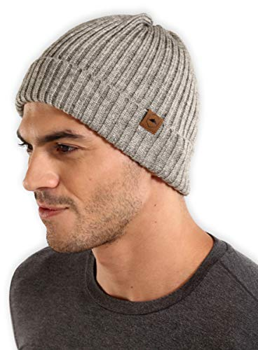 Tough Headwear Cuff Beanie Watch Cap - Warm, Stretchy & Soft Knit Hats for Men & Women - Stylish Toboggan Skull Caps - Serious Beanies for Serious Style