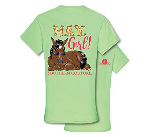 Southern Couture SC Classic Hay Girl Horse Classic Fit Adult T-Shirt - Mint Green, Small