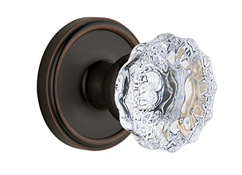 Georgetown Rosette Double Dummy (Grandeur Georgetown Rosette with Fontainebleau Crystal Knob, Double Dummy, Timeless Bronze)