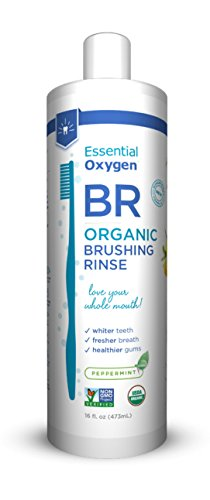 Essential Oxygen Brushing Rinse Organic Peppermint 16 Oz (Pack of 2)