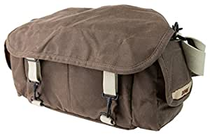 Domke F-2 original shoulder bag 700-02A (Ruggedwear Brown) for Canon, Nikon, Sony, Leica, Fujifilm & Olympus DSLR or Mirrorless cameras with space for multiple lenses up to 300mm and accessories