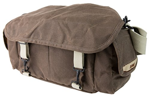 Domke F-2 original shoulder bag 700-02A (Ruggedwear Brown) for Canon, Nikon, Sony, Leica, Fujifilm & Olympus DSLR or Mirrorless cameras with space for multiple lenses up to 300mm and accessories (Domke Canvas Camera Bag)