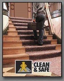Clean & Safe Reusable Drop Cloth - 32'' x 50' - Floor Protection