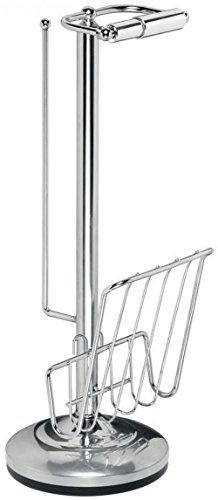 - Moon Daughter Toilet Paper Holder Freestanding Caddy Magazine Rack Storage Space Chrome 3 Papre Rolls Space New