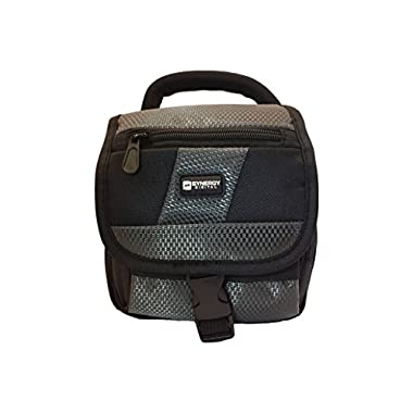 Canon PowerShot SX530 HS Digital Camera Case Camcorder and Digital Camera Case - Carry Handle & Adjustable Shoulder Strap - Black / Grey - Replacement by Synergy