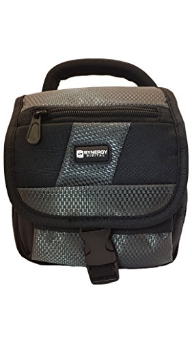 Vtech Kidizoom Camera Digital Camera Case Camcorder and Digital Camera Case - Carry Handle & Adjustable Shoulder Strap - Black / Grey - Replacement by Synergy