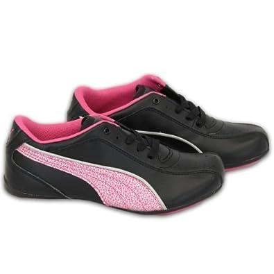 Girls  Puma Trainers PU35301203 Black Pink UK 2.5 EU 35  Amazon.co ... 255b0918b