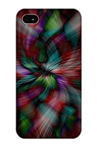Exultantor Hot Tpye Abstract Colors Case Cover For Iphone 4/4s For Christmas Day's Gifts Kimberly Kurzendoerfer